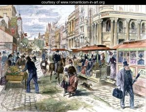 London Illustrated News. Collins Street. 1889