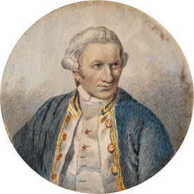 Captain James Cook. RN. SLNSW