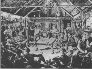 mens hut dance The Boomerang' 1890